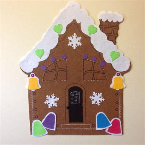felt gingerbread pattern kids christmas activity felt gingerbread house pattern
