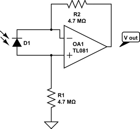 diode lifier circuit op photodiode lifier diode offset electrical engineering stack exchange