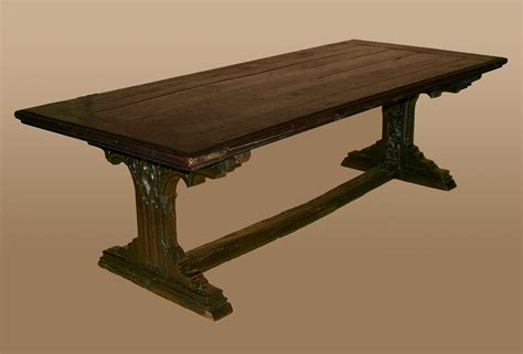 Dining Room Table For Sale by Rare Northern European Gothic Period Refectory Table