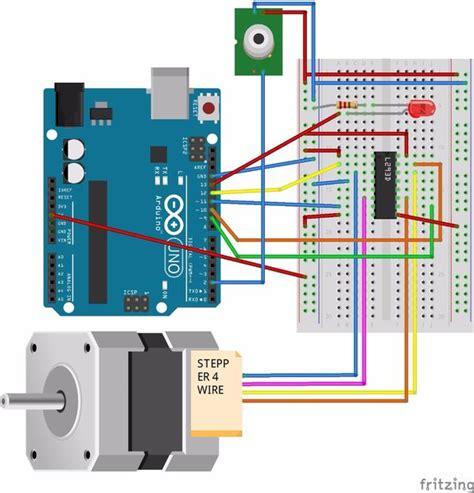 arduino 6 wire stepper motor pir sensor with arduino activate stepper motor