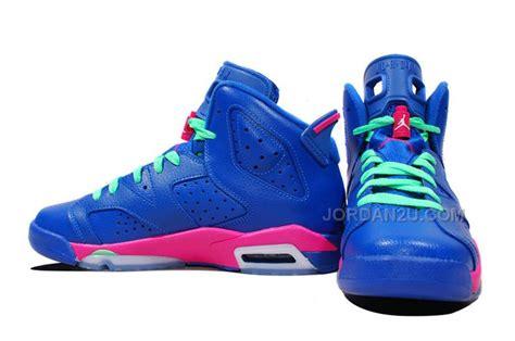 shipping girls air jordan  retro gs game royalwhite vivid pink light lucid green  sale
