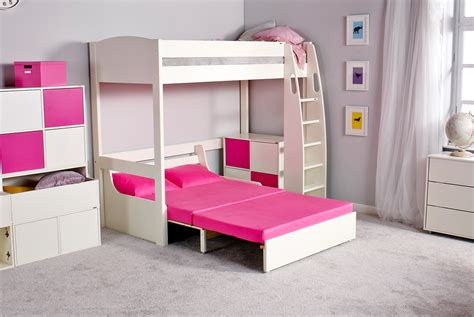High Sleeper Bed With Futon High Sleeper Bed With Futon Details About High Sleeper Bed With Futon Desk And Shelves White