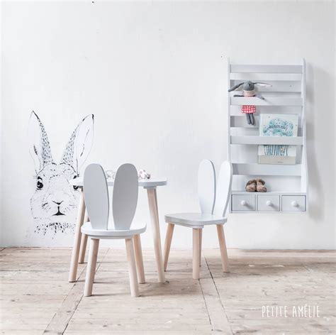 table chaise pour enfant chaises et table enfant lapin gris am 233 lie chaise