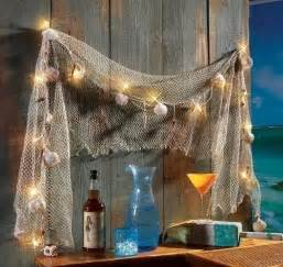Fish Decor For Home Fish Net Sea Shells Light Strand Outdoor Decor Indoor Nautical Seaside Wall Things I