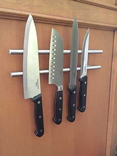 wall mounted knife holder in knife storage kimbul wall mounted magnetic knife holder double bar rack