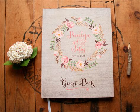 Guest Book Design For Wedding by Boho Guest Book Wedding Guestbook Floral Guest Book