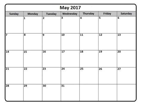Get Calendar May 2017 Calendar Printable Template Get Calendar Templates