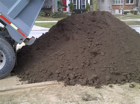 Cubic Yards To Tons Soil This Is 20 Cubic Yards Of Topsoil Delivered Www
