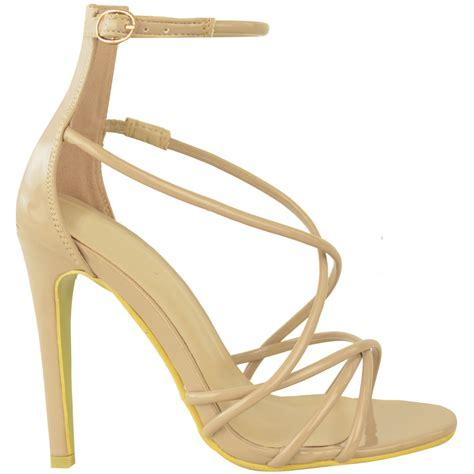 strappy stiletto high heels womens high heels sandals strappy stiletto