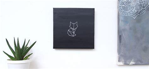 stitched geometric fox eskaa