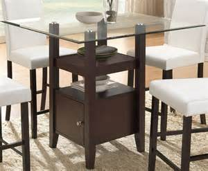 Bar Height Glass Dining Table Cappuccino Glass Counter Height Dining Table