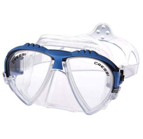 Masker Cressi cressi sub matrix scuba diving silicone mask with inclined lens for superior field of view