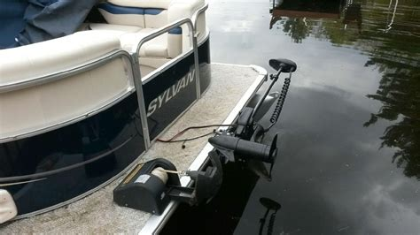best motor for pontoon boat best way to mount a trolling motor on a pontoon boat