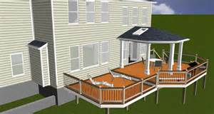 Covered porch design rendering highland md maryland custom outdoor