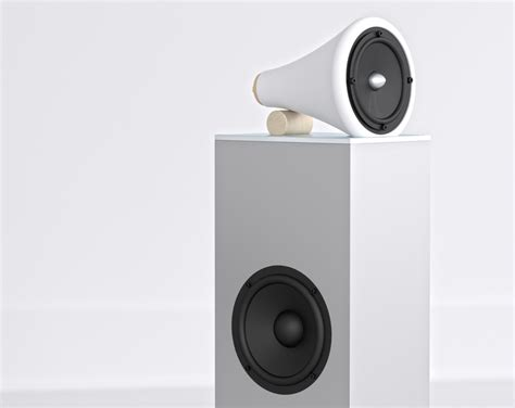 design milk speakers ceramic towers by joey roth elevate sight and sound