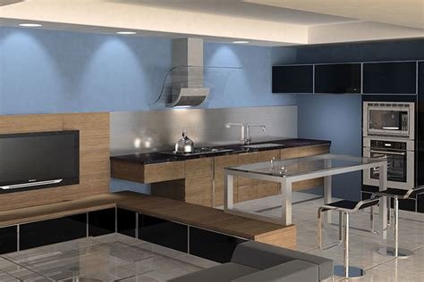 blue walls in kitchen blue kitchen wall ideas quicua com