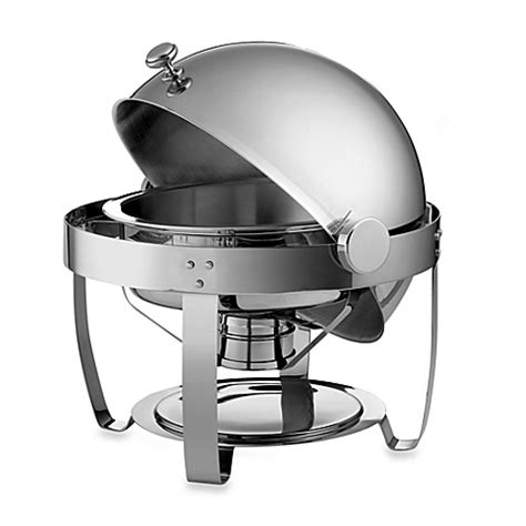 chafing dish bed bath and beyond tramontina 174 6 quart round stainless steel chafing dish