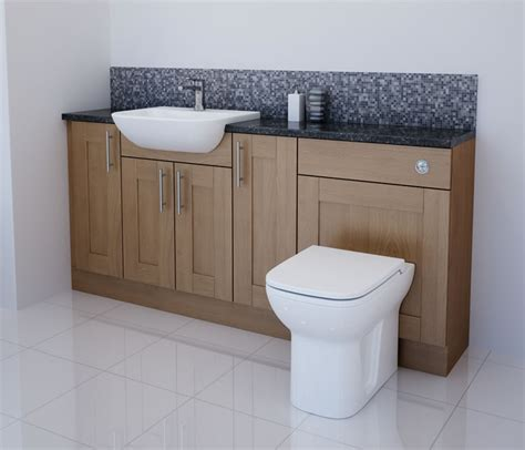 Solid Oak Bathroom Furniture Bathcabz Bathroom Fitted Furniture Products Solid Oak 1800mm Solid Oak Furniture Run