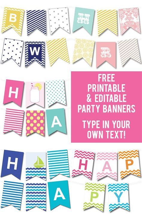 printable party banner maker 50 gorgeous free wall art printables free printable
