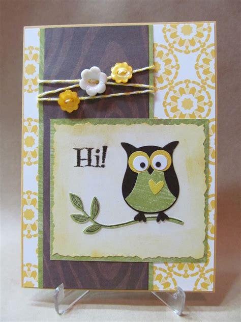 Handmade Owl - savvy handmade cards owl hi card