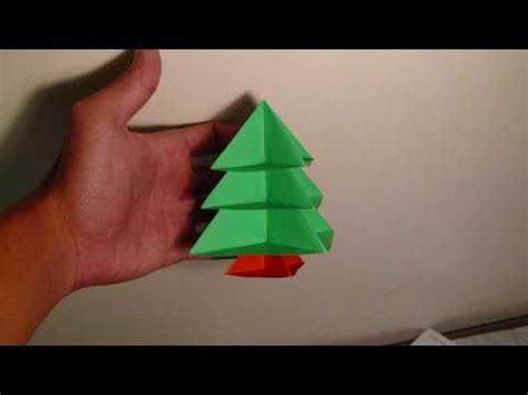 easy origami christmas tree printable instructions origami modular christmas tree instructions youtube