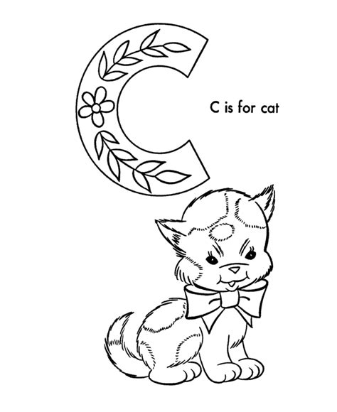 free coloring pages of c is for cat