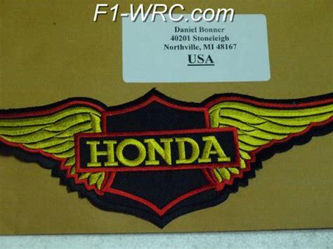 Vintage Honda Logo Wings Embroidered Motorcycle Honda Patch Jacket f1 nascar rally motorcycles motor patches t shirt jacket harley yamaha kawasaki honda