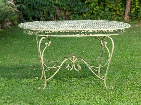 ebay mobili da giardino tavolo da giardino 135 centimetri tavolo in ferro battuto
