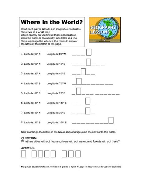 Geography Worksheets High School worksheets world geography worksheets high school