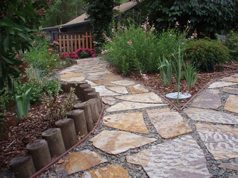pathway ideas how to decorate a garden orchid flowers