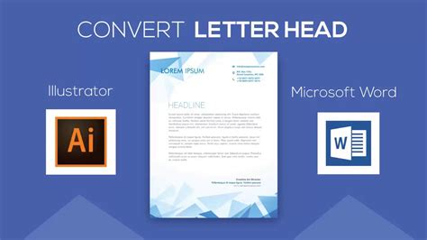 convert letterhead design adobe illustrator