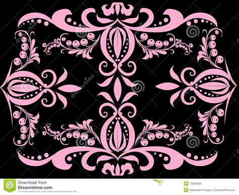 berry design pink berry design on black stock images image 11839534