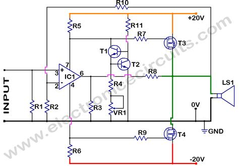 transistor voltage lifier circuit mosfet power lifier electronic circuits