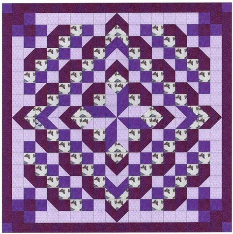 easy quilts from precut fabrics books easy quilt kit faceted purples pre cut fabrics