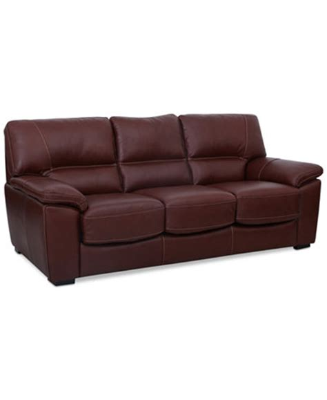 Macys Sleeper Sofa Bolivar Leather Sleeper Sofa Only At Macy S Furniture Macy S