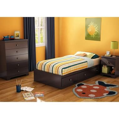 3 piece chocolate modern bedroom furniture collection twin size platform bed set ebay southshore zach 3 piece bedroom set zach twin mates bed