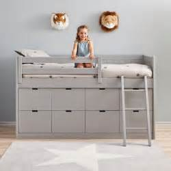cabin bed with 8 drawers ladder childrens beds