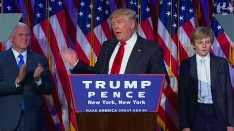 donald trump s unthinkable election donald trump s victory speech in full video youtube