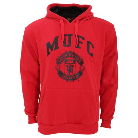 Hoodie Manchester United Mu H03 1 manchester united fc mens official large football crest pullover hoodie ebay
