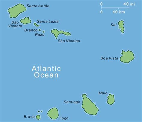 cape verde islands map where is cape verde islands map