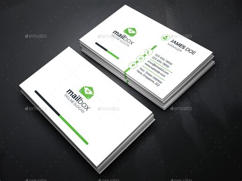 Card Preview by Mail Box Corporate Business Cards By Generousart