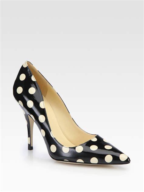 Kate Spade Polka kate spade new york licorice polka dot patent leather pumps in black lyst