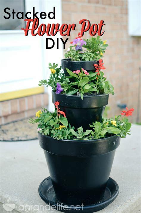 diy stacked flower pots a grande