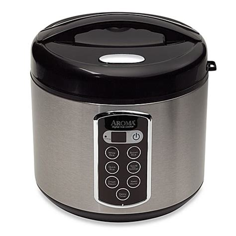 bed bath and beyond food steamer aroma 174 sensor logic 174 20 cup rice cooker and food steamer