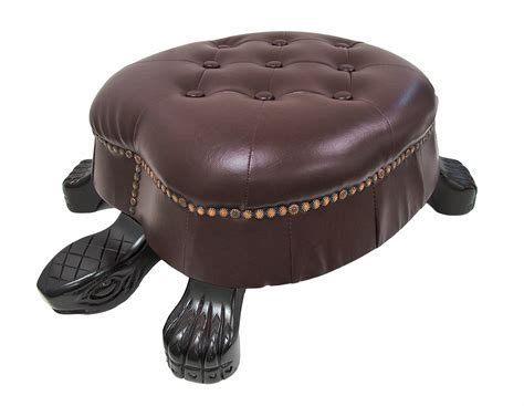ottoman stool walnut finish turtle ottoman foot stool ebay
