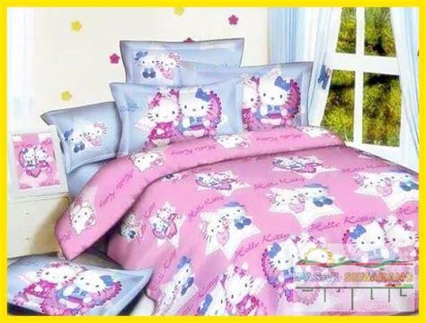Set Bedcover Seprei Katun Jepang 200cm X 200cmx25cm Mickey N Minnie pusat sprei katun jepang bed cover katun jepang terbaru pasarsemarang