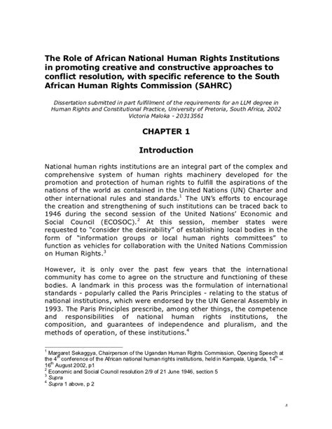 of national human rights institutions in promoting creat