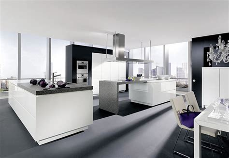 Alno Kitchen Cabinets | handleless kitchen completed with gorgeous high end
