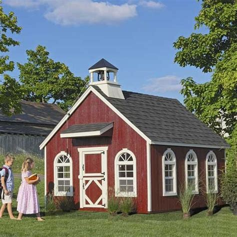 backyard clubhouse kits amish stratford schoolhouse outdoor playhouse