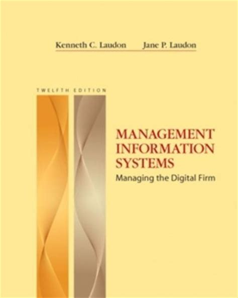 management information systems managing the digital firm books mis useful resources